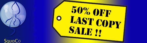 Squidco Last Copy 50% Sale