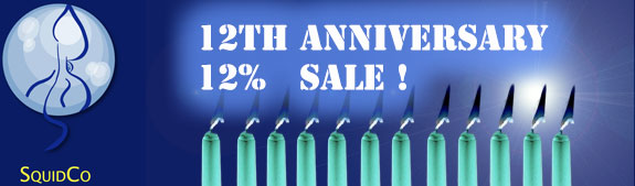 Squidco 12th Anniversary Sale