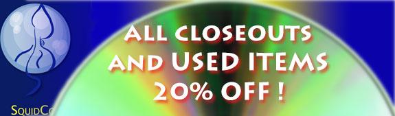 Squidco's Labor Day Closeout Sale